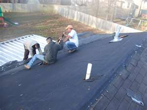 Metal roof & rubber roof coating